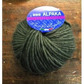 Wool Alpaka with. 5 - Brown