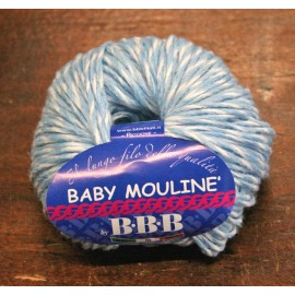 Wool Baby Twill with. 7 - Faded blue