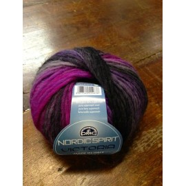 Wool Victoria with. 136 - Purple/Grey