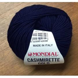 Lana Cashmirette gold col. 417 blu scuro