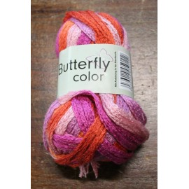 Lana Butterfly col. 15 - Arancio/Rosa/Fucsia