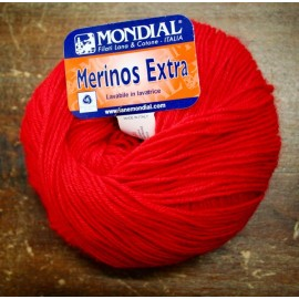 Merinos wool Extra over. 90 - Red